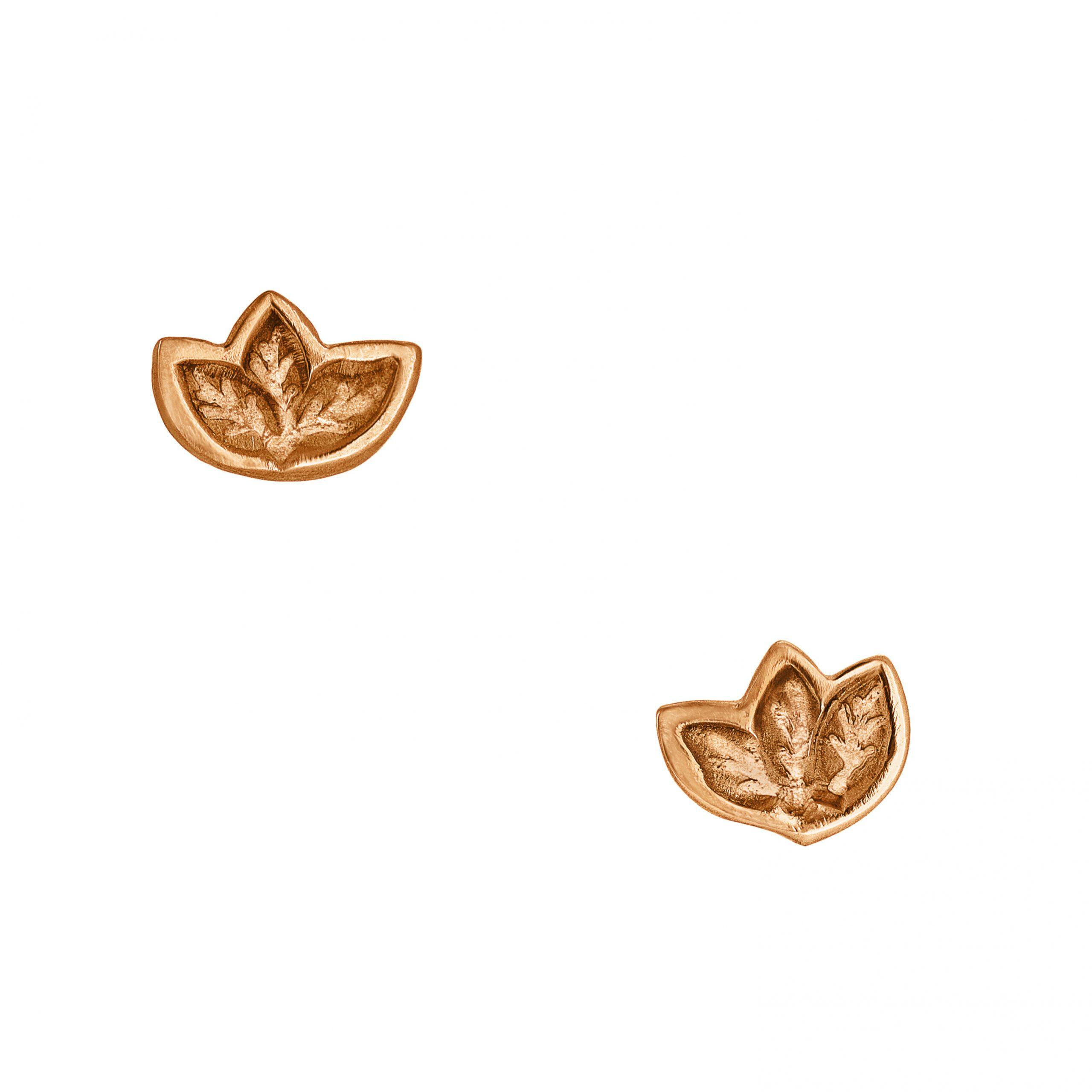 fairtrade-rose-gold-leaf-studs-front
